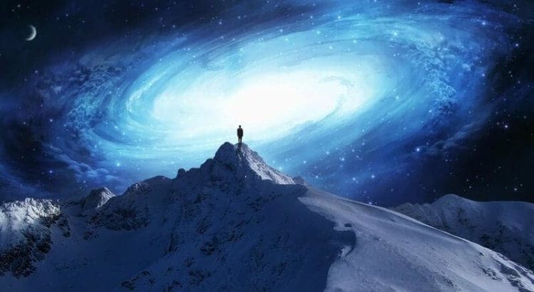 hing üks mägi mees universum lumi tähed kuu
