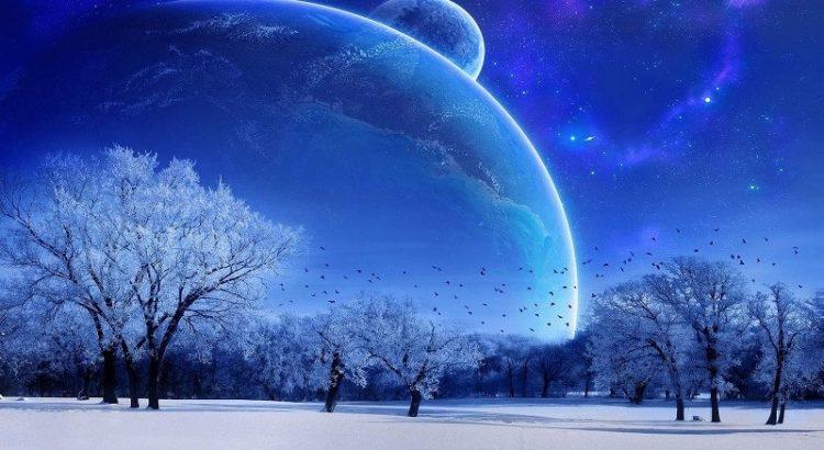 imelised unistused kolm maad linnud puud valge