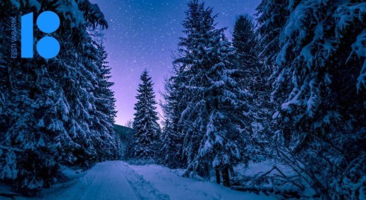 Eesti vabariik 100, mets, lumi, taevas, tähed, iseseisvumise eel