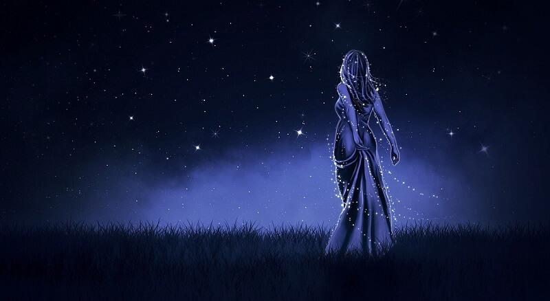 meie hingeelu, öö, tähed, naine kleidis