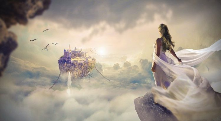 tundmise ajastusse, naine, valge kleit, loss, vabadus