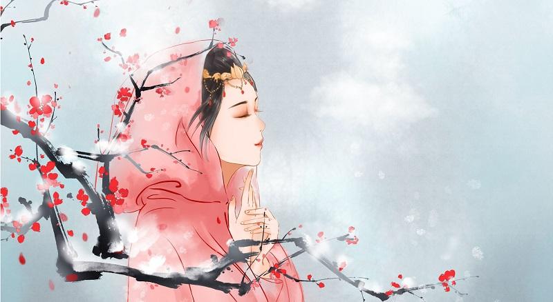Enese Teel, Naine, Puu, Vaikus, Meditatiivne olek